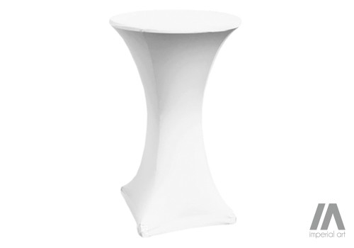 stolik koktailowy biały